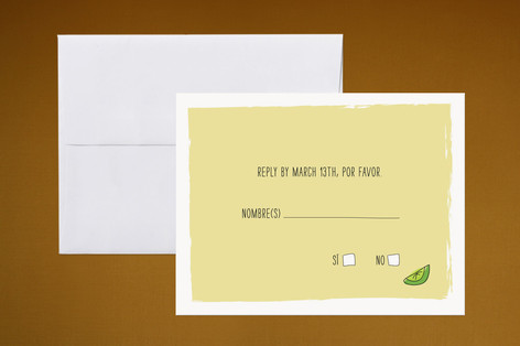 """""""Translation Destination"""" - Hand Drawn, Whimsical & Funny Print-it-yourself Rsvp Cards in Lime by Erin Pescetto."""