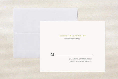 """""""Two Become One"""" - Monogrammed Print-it-yourself Rsvp Cards in Custard by trbdesign."""