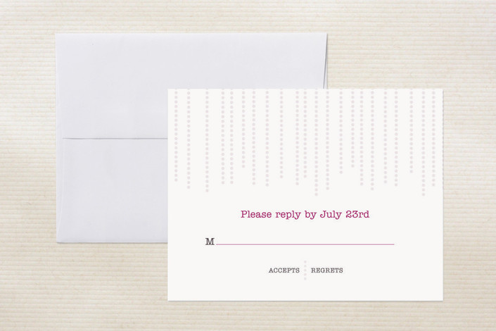 """Star Dust"" - Modern, Simple Print-it-yourself Rsvp Cards in Blush Pink by Heather.."
