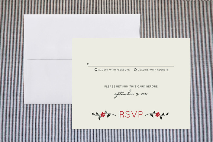 """Happiness Doubled"" - Print-it-yourself Rsvp Cards in Sepia by GeekInk Design."