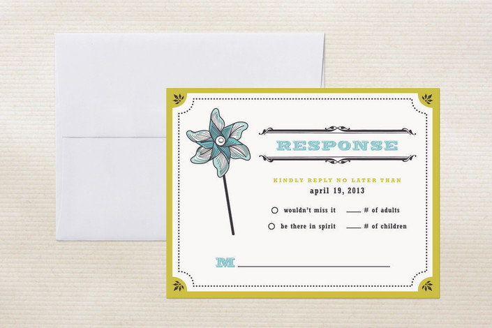 """Pinwheel Stars"" - Whimsical & Funny, Hand Drawn Print-it-yourself Rsvp Cards in Wheat by Casey Fritz."