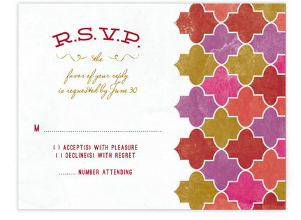 A Wedding in Marrakesh Print-It-Yourself Wedding RSVP Cards
