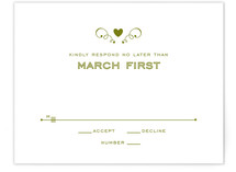 Contemporary Claddagh Print-It-Yourself RSVP Cards