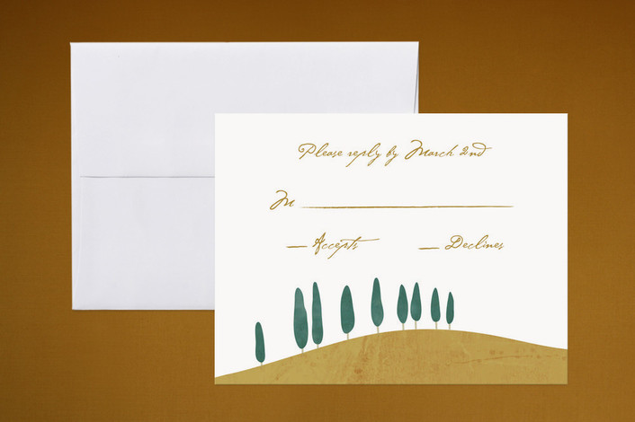 """""""Tuscan Hill"""" - Winery, Destination Print-it-yourself Rsvp Cards in Sky Blue by Erin Pescetto."""