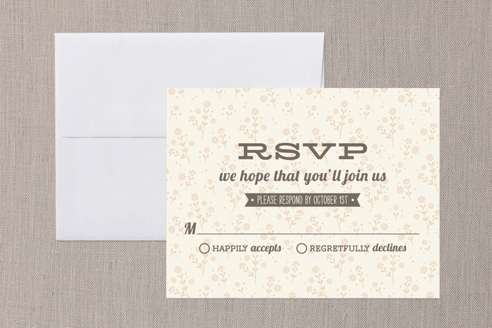 """""""Country Classic"""" - Rustic Print-it-yourself Rsvp Cards in Coral by Laura Hankins."""