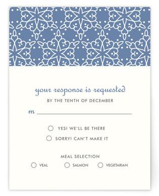 Winter Wedding Print-It-Yourself Wedding RSVP Cards