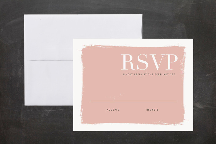 """""""Gallery Hopping"""" - Bold typographic, Modern Print-it-yourself Rsvp Cards in Blush by annie clark."""