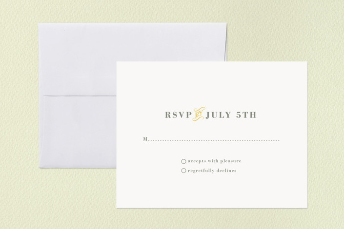"""Stitched Sunburst"" - Whimsical & Funny, Modern Print-it-yourself Rsvp Cards in Sunburst by Stacey Hill."
