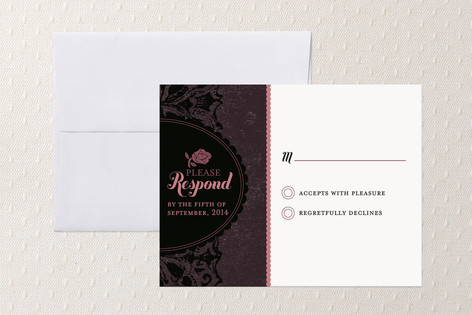 """Solstice"" - Classical, Elegant Print-it-yourself Rsvp Cards in Blush by Alex Elko Design."