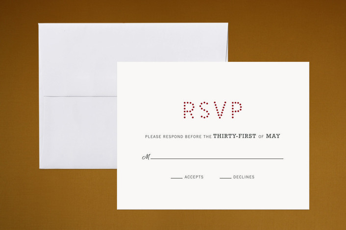 """""""Roll of the Dice"""" - Destination, Simple Print-it-yourself Rsvp Cards in Carmine Red by Kelly Nasuta."""