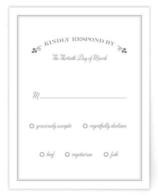 Wedding Boughs Print-It-Yourself Wedding RSVP Cards