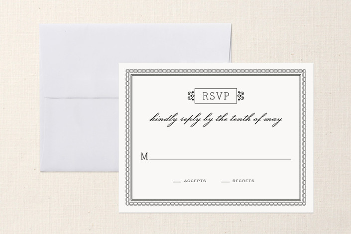 """Time and All Eternity"" - Preppy Print-it-yourself Rsvp Cards in Ebony by cambria."