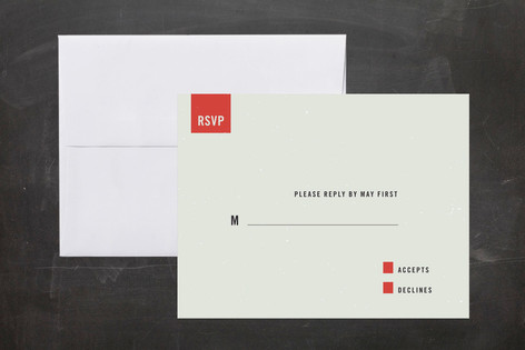 """Modern"" - Modern, Simple Print-it-yourself Rsvp Cards in Slate by Tyler Tea."