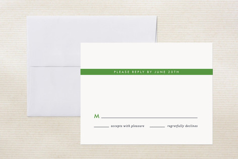"""""""Perchance"""" - Simple, Preppy Print-it-yourself Rsvp Cards in Lawn by Alston Wise."""