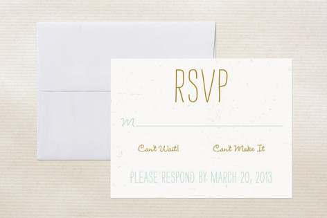 """Chuppah"" - Modern Print-it-yourself Rsvp Cards in Frost by June Letters Studio."