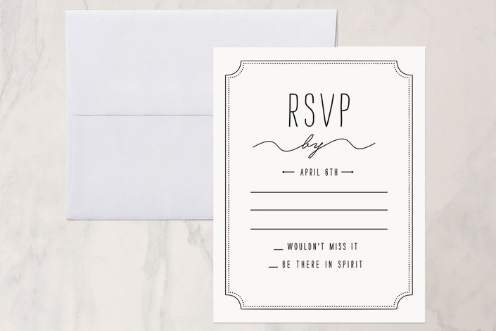 """Vie en Rose"" - Bold typographic Print-it-yourself Rsvp Cards in Mint by Bleu Collar Paperie."