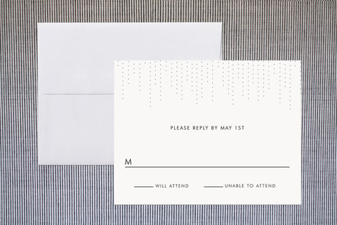 """""""Starlit Nights"""" - Formal Print-it-yourself Rsvp Cards in Charcoal by Fig and Cotton."""