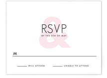 Ampersand Print-It-Yourself RSVP Cards