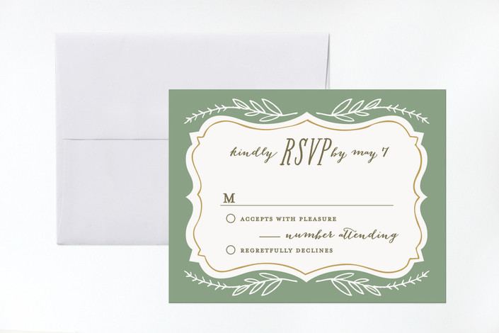 """""""Herb Garden"""" - Rustic, Floral & Botanical Print-it-yourself Rsvp Cards in Earth by Alethea and Ruth."""