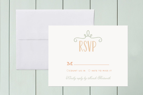 """Our Big Wedding"" - Print-it-yourself Rsvp Cards in Kraft by Lori Wemple."
