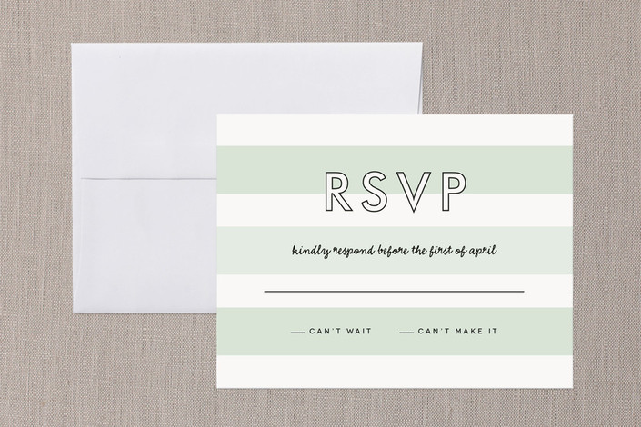 """Read Between the Lines"" - Simple, Modern Print-it-yourself Rsvp Cards in Ombre Mint by Lauren Chism."