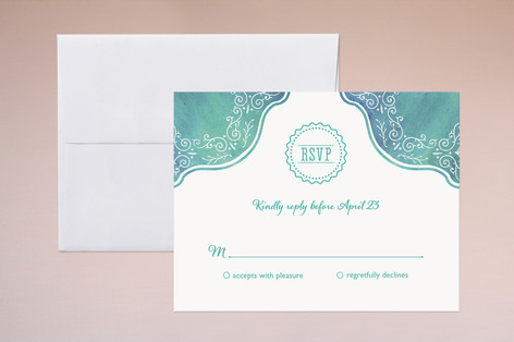 """""""Splash of Paradise"""" - Beach Print-it-yourself Rsvp Cards in Caribbean by Paige Rothhaar."""