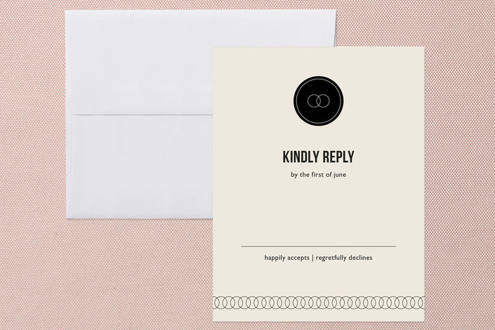"""Eternity"" - Simple, Classical Print-it-yourself Rsvp Cards in Black by Milkmaid Press."