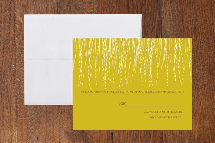 """Goldshine"" - Modern Print-it-yourself Rsvp Cards in Lemon Zest by Lisa Samartino Design."