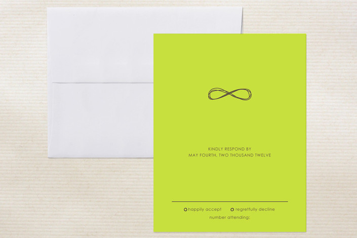 """""""Infinite"""" - Simple Print-it-yourself Rsvp Cards in Bister by The AV Design Factory."""