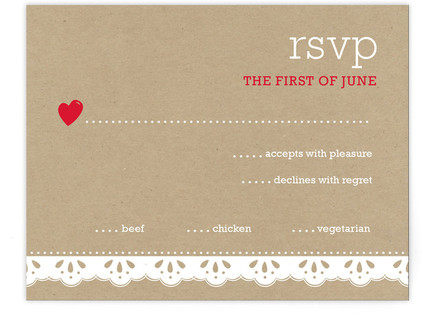 Our Wedding Day Print-It-Yourself Wedding RSVP Cards