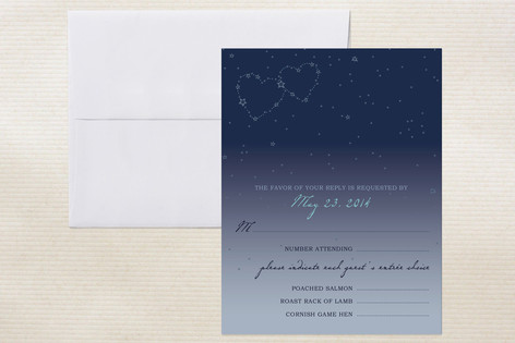 Star Map Print It Yourself Rsvp Cards By 2birdstone Minted
