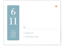 Wedding by Numbers Print-It-Yourself RSVP Cards