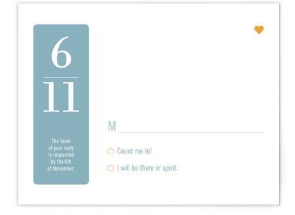 Wedding by Numbers Print-It-Yourself Wedding RSVP Cards