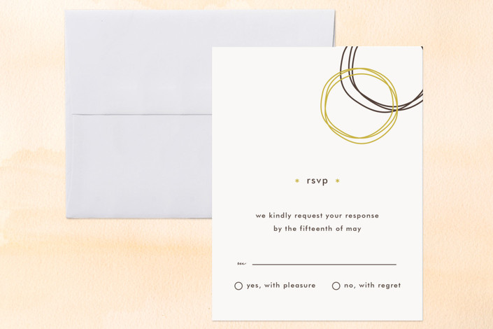 """""""Circles"""" - Modern Print-it-yourself Rsvp Cards in Mocha by chica design."""