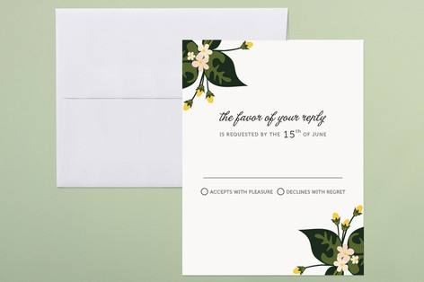 """Citrus Crush"" - Print-it-yourself Rsvp Cards in White by Emily Ranneby."