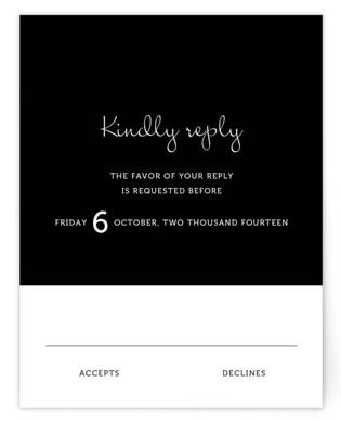 Wedding Type Print-It-Yourself Wedding RSVP Cards