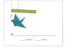 Two Cranes Print-It-Yourself RSVP Cards