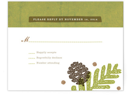 Rustic Pinecones Print-It-Yourself Wedding RSVP Cards