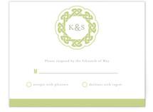 Modern Celtic Knot Print-It-Yourself RSVP Cards