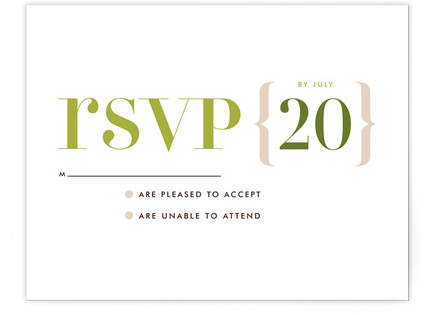 Love Lettered Print-It-Yourself Wedding RSVP Cards