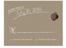 Rustic Type Print-It-Yourself RSVP Cards