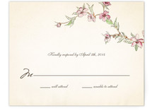 Blue Bird of Happiness Print-It-Yourself RSVP Cards