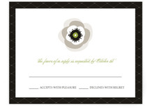 White French Anemone Print-It-Yourself RSVP Cards
