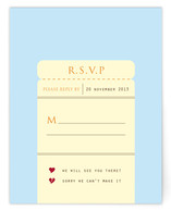 Board on Our Journey of Love Print-It-Yourself RSVP Cards