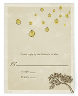 Whimsical Tree with Lanterns Print-It-Yourself RSVP Cards