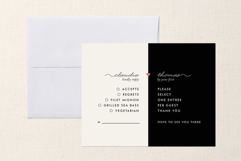 """""""My Other Half"""" - Modern Print-it-yourself Rsvp Cards in Tuxedo by nocciola design."""