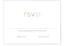 Modern Type Print-It-Yourself RSVP Cards