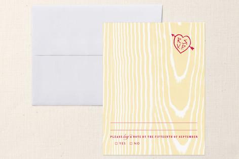 """K-I-S-S-I-N-G"" - Modern Print-it-yourself Rsvp Cards in Orange by danielleb."