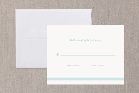 """""""simply stripes"""" - Simple Print-it-yourself Rsvp Cards in Sky Blue by Emily Ranneby."""