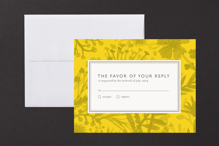 """Sundance Wildflowers"" - Floral & Botanical Print-it-yourself Rsvp Cards in Sunshine by cambria."